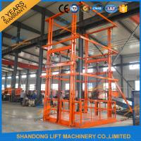 Quality 5T 6m Warehouse Hydraulic Guide Rail Freight Lift Elevator Vertical Goods Lift With CE TUV for sale