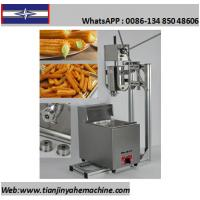 Quality TJ-11 Stainless Steel Commercial Churro Depositor And 6L Gas Fryer for sale