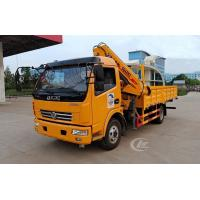 Quality 120HP Small Telescopic Crane , 4t Dongfeng Telescopic Boom Truck Mounted Crane for sale