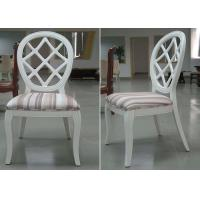 Quality Streak Fabric Upholstery Modern Dining Room Chairs With Round Back for sale