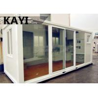 Quality Charming Steady Mobile Container House Red Floor Panel PVC Window With Decoration for sale