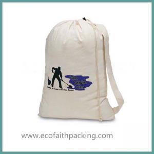 Quality cotton laundry drawstring bag, canvas laundry bag for sale