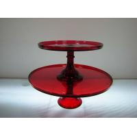 China Color Glass Cake Plate on sale