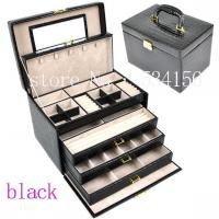 Quality Great Black Color Jewelry Case for Necklace Storage box (28* 20 * 19.5 cm) Factory Price Wholesale Can mix color for sale