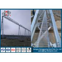 Buy cheap 750KV Substation Steel Structures Conical , Round Q345 Hot Dip Galvanized from wholesalers