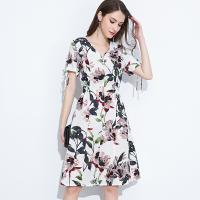 Quality 89D18008 Large Size Summer Fresh And Fashionable Cotton And linen Dress for sale