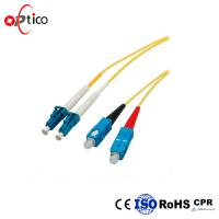 Quality Duplex Fiber Optic Patch Cord LC UPC To SC UPC Low Insertion Loss 70N Tensile Strength for sale