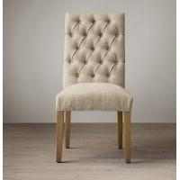 weathered oak drifted fabric covered dining room chairs with Thickly padded seat