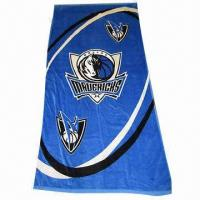 Quality Promotional Sports Towel with Embroidery/Logo Print, Made of Soft Fabric for sale