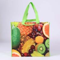 Quality laminated non-woven shopping bag with fruit print for sale