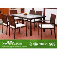 Buy cheap Steel Tube Frame Indoor Patio Furniture Dining Sets 7 Piece All Color from Wholesalers