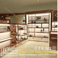 China Wholesale custom pop floor wood shoes display rack on sale