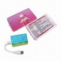 Quality Card-shaped MP3 Player with Built-in Polymer Lithium Battery for sale