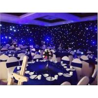 Quality black and white patterned curtains live video led curtain led twinkling stars led curtain lights for sale