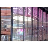 Quality 1R1G1B P12mm High Transparent Glass Wall LED Screen For Shop Advertising for sale