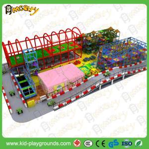 Quality China Large Children Indoor Playground Equipment with Slides Big Amusement Playground for sale