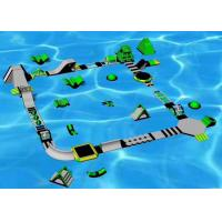 Quality 0.9mm PVC Floating Water Park , Sports Games Inflatable Amusement Park for sale