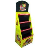 Quality Customized corrugated Cardboard Counter Displays point of purchase stands PDQ for sale