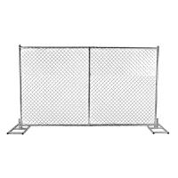 A drawing picture of temporary chain link fence.