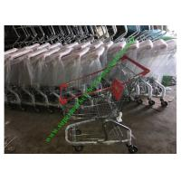 Quality Zinc And Powder Coating Supermarket Shopping Cart / Steel Mesh Hand Trolley for sale