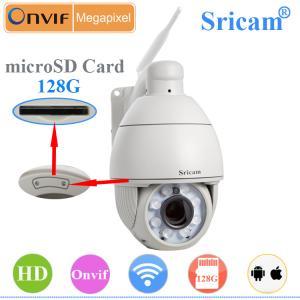 Quality Sricam SP008 ONVIF hd PTZ ip security cctv hidden camera outdoor ir digital color ccd came for sale