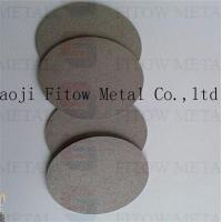Quality microns Powder Porous Sintered Titanium Filterdisc fitow for sale
