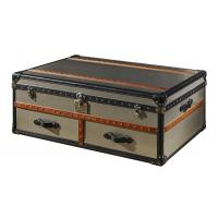 China Brush Stainless Steel Side Coffee Table , Antique Vintage Trunk Coffee Table Business Storage on sale