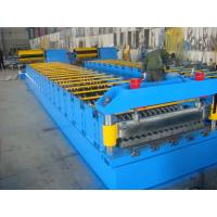 Quality Galvanized Metal Roof Panel Roll Forming Machine , Glazed Tile Roll Forming Machine for sale