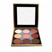 China High Pigment No Labels Face Makeup Products 9 Colors Eyeshadow Palette MSDS Marked on sale