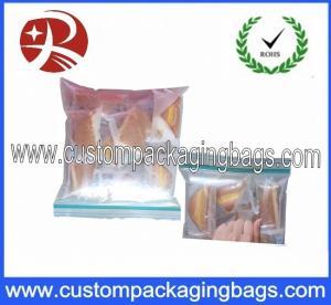 Buy cheap Waterproof PE Plastic Clear Ziplock Bag , Double Transparent Reclosable Ziplock from wholesalers