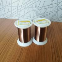 Quality Thermal Class 155 / 180 UEW 0.01mm Ultra Fine Magnet Wire Enameled Copper Winding Wire for sale