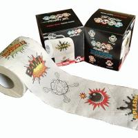 China comic toilet paper 2ply x 250 sheets 100% wood virgin pulp printed toilet paper manufacturer on sale