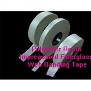 Quality Insulation W-Epoxy resin impregnated fiberglass binding tape for sale