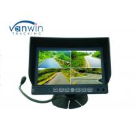 China 7 Inch Widescreen LCD Monitor 4ch DVR with stand mount and quad images for Van / Truck on sale