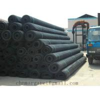 China Warp knitted polyester geogrid with PVC coating on sale