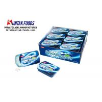 Quality Peppermint Cool Fresh Sugar Free Lozenges For Throat Slide Tin Box for sale