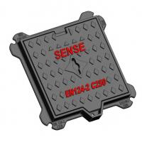 China Double Sealed Manhole Cover C250 Ductile Iron Kerb-side Channel Of Roads on sale