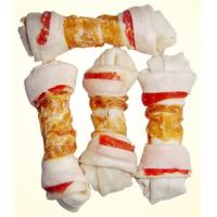 China Dog Chew Dog Food Pet Food Rawhide Knotted Bone Chicken Jerky Twists on sale