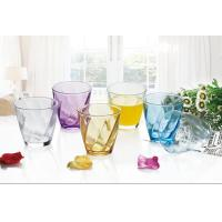 Quality 6PC Drinking Glass Cup Set Colored Gift Packing Stock 260ml Weight 195g for sale