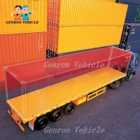 China Genron 20/40 ft Container Flatbed Platform Flat Bed Trailer for Sale in Guinea on sale