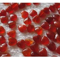 Quality Natural Stone Red agate heart beads with dril hole size Fit for bracelet necklace by original factory with Multi sizes for sale