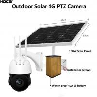 China 2Mp 1080P 4X zoom 4G Solar powered 128G SD two ways audio P2P PTZ speed dome camera with remote control by mobile's APP on sale