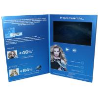 Quality VIF Free Sample Magnetic switch graduations digital video brochure 7 inch  with A4 / A5 paper for business invitations for sale