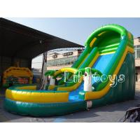 Quality Green Commercial Grade Inflatable Water Slides Water Park For Children for sale
