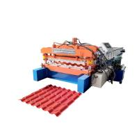 Quality Bamboo Glazed Roof Tile Roll Forming Machine Metal Steel Step Tile Making Machine for sale