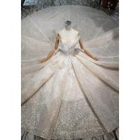 Buy O - Neck Sleeveless Handmade Bridal Ball Gowns Special Dress For Wedding at wholesale prices