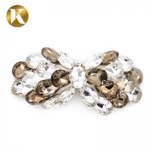 Quality Custom Women'S Decorative Shoe Clips High Rhinestone Bow Hair Ornaments for sale