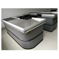 Buy Electronic Supermarket Conveyor Belt Checkout Counter With Electrical Engine at wholesale prices