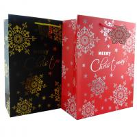 Quality Luxury Christmas Gift Paper Bags with Flower Patterns differnt colors for sale