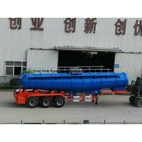 Quality Concentrated Sulfuric Acid Tanker Truck V Shape 21000L H2SO4 98% Tri Axle BPW for sale